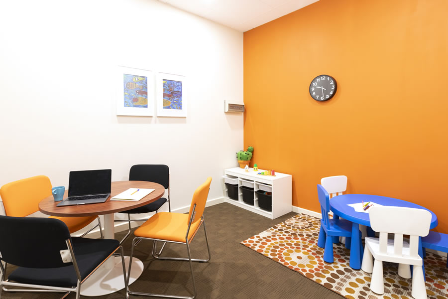 Guiding Pathways orange consulting room