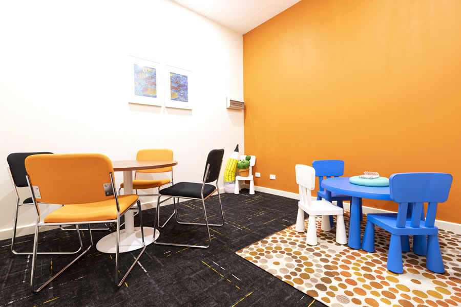 Guiding Pathways orange consulting room