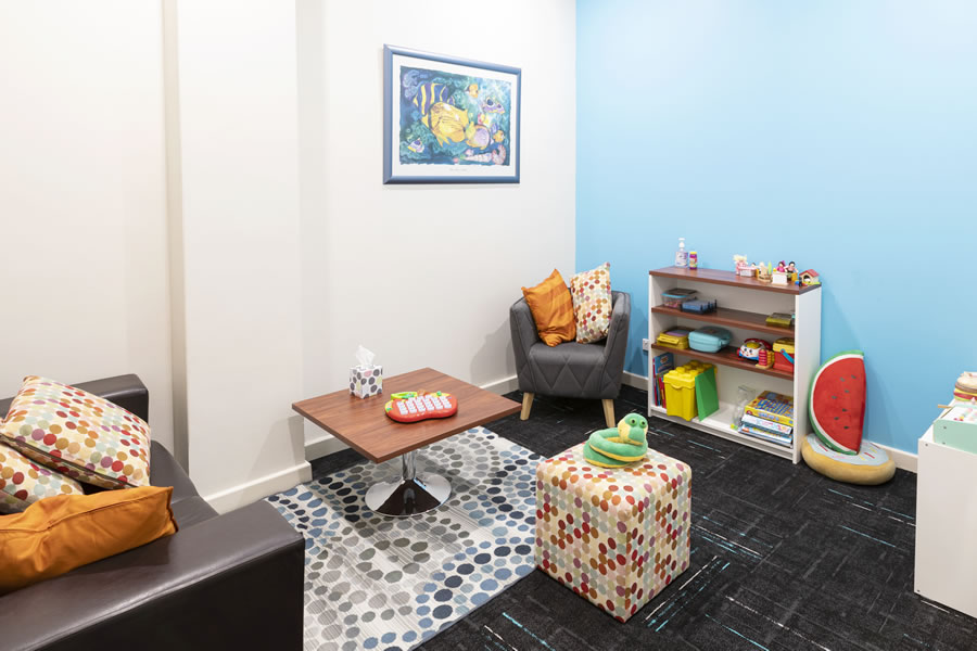 Guiding Pathways child psychology blue consulting room