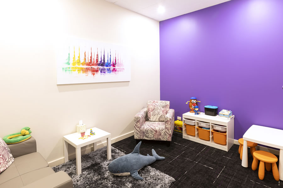 Guiding Pathways purple consulting room